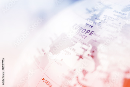 Europe map background Poster