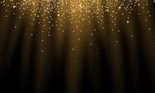 Shiny Golden Stars Background
