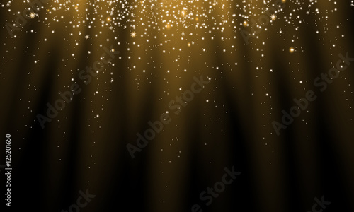 shiny golden stars background Wallpaper Mural