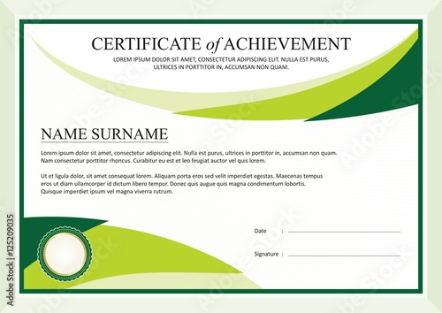 green modern diploma certificate template design buy this stock