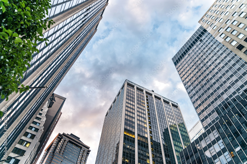 Photo  Cityscape of American cities: New York City - Wall Street view