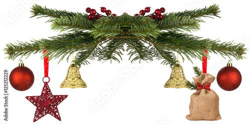 tannenzweige weihnachtlich geschm ckt kaufen sie dieses. Black Bedroom Furniture Sets. Home Design Ideas