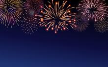 Firework Bursting Sparkle Back...