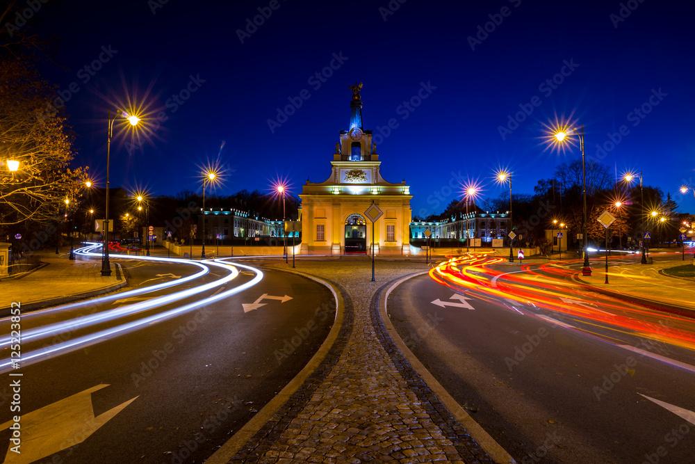 Fototapety, obrazy: Białostockie miasto nocą