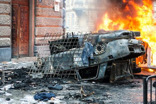 Fotografía  burning car