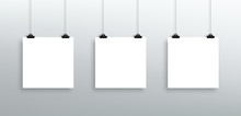 3 Vector Hanging Blank White S...
