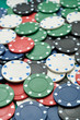 poker chips with shallow depth of field