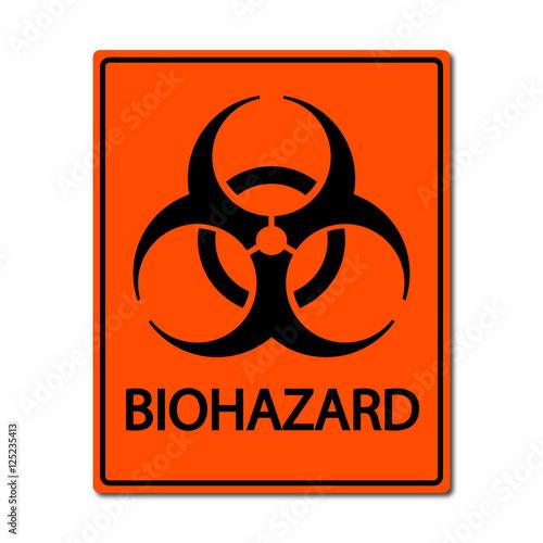Biohazard sign illustration Canvas Print