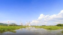 Esso Sriracha Refinery, Laem Chabang, Petrochemical Industrial With Landscape Background In Si Racha District, Chon Buri , Thailand