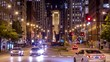 Lasalle Street traffic at night - Chicago