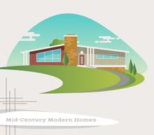 Mid Century Modern Style House...