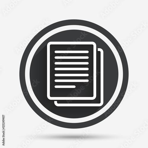 Fotografie, Obraz  Copy file sign icon. Duplicate document symbol.