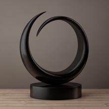 Abstract Wooden Sculpture. 3d ...