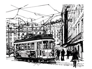 Tramway in lisbon