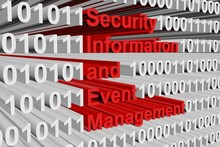 Security Information And Event Management In The Form Of Binary Code, 3D Illustration