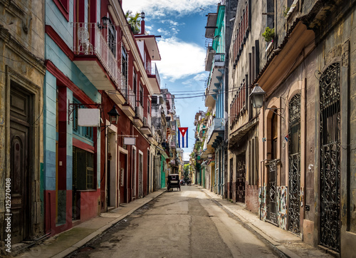 mata magnetyczna Old Havana downtown Street - Havana, Cuba