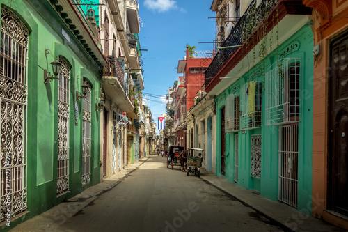 Photo Stands Havana Old Havana downtown Street - Havana, Cuba
