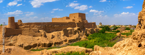 Aluminium Prints Fortification old clay fortress over the city of Meybod in Iran