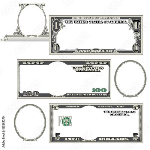 Fotografie, Obraz  Stylized money with plenty of blank space for your text