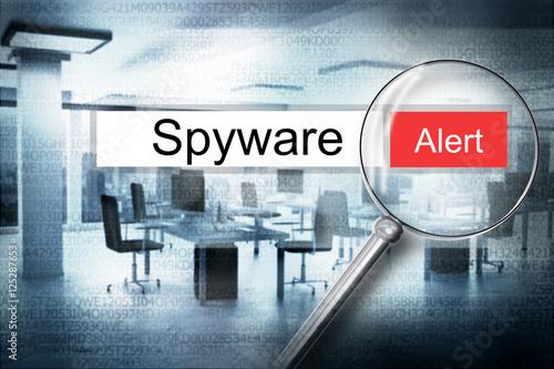 Fotografía  reading spyware browser search security alert 3D Illustration