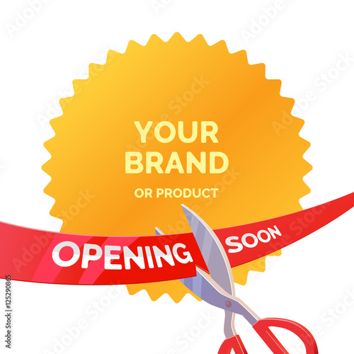 tape and scissors template for open brand or store buy this