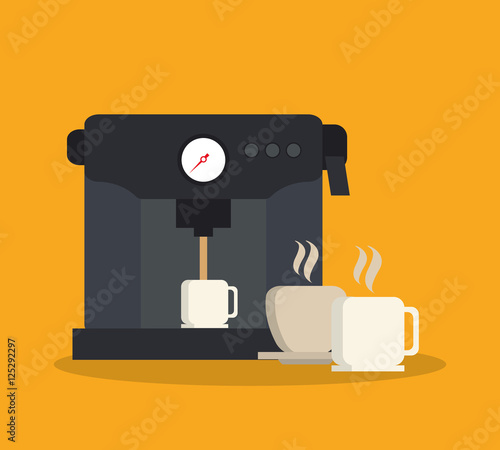 Obraz na plátně Machine and mug icon