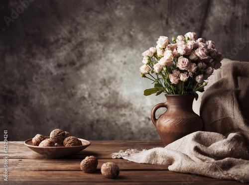 Fotografía  Still life. Concept background and texture.