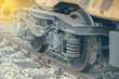 Wheels of a railway wagon 2