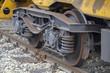 Wheels of a railway wagon