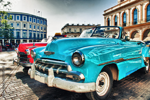 Recess Fitting Havana Vintage classic american car parked in a street of Old Havana
