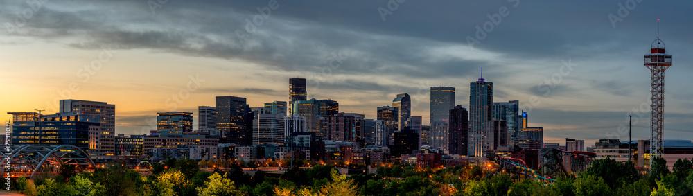 Fototapeta Denver skylline in the early morning