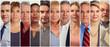 canvas print picture - Mature people set