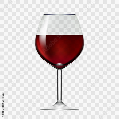 Transparent Wineglass With Red Wine Wall mural