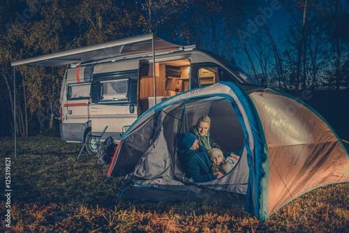Poster Camping Family Camping Fun