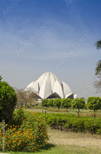 Staande foto India lotus temple during daylight new delhi India