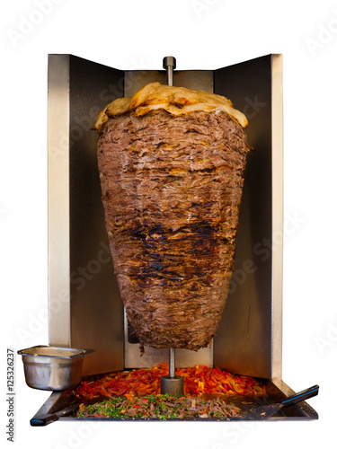 Middle Eastern Grilled Lamb Kebab Meat Isolated