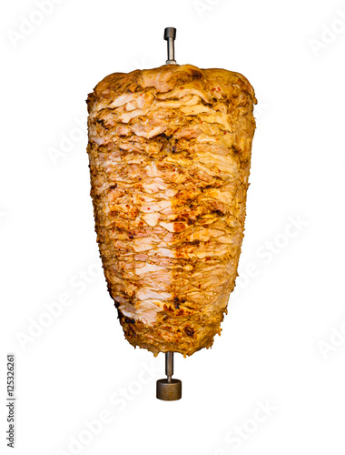 Isolated Middle East Grilled Chicken Kebab Meat