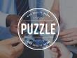 Puzzle Solving Confuse Connect Problem Solution Concept