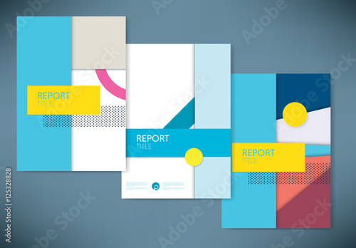 report covers with abstract design element layout buy this stock