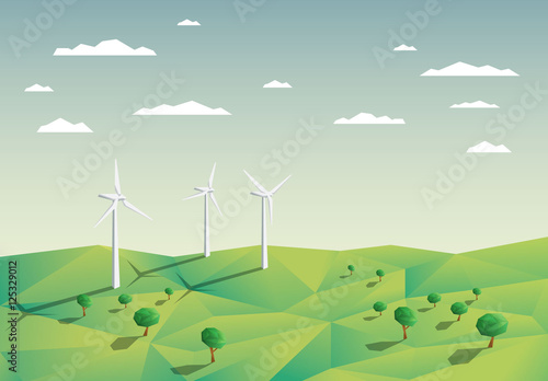 wind turbines in a field illustration buy this stock template and