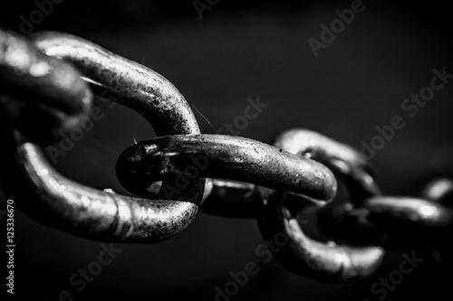 Photo Shiney black and white chain