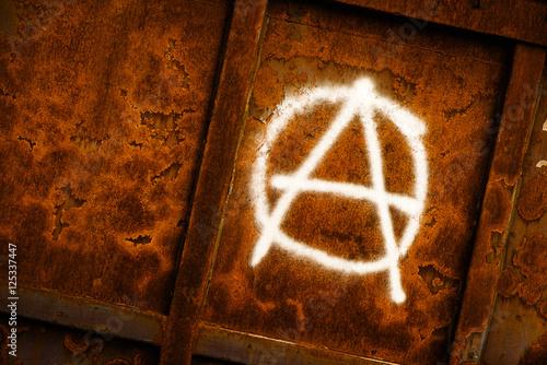 Fotografie, Obraz  Anarchy symbol graffiti