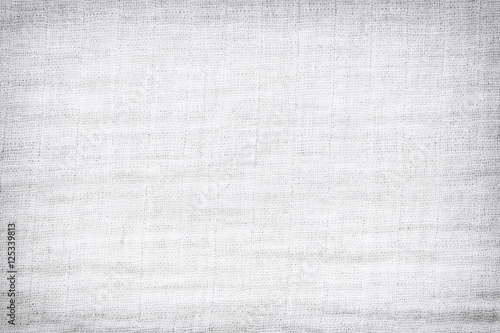 Fotografie, Obraz  Texture of white raw fabric for the background design.