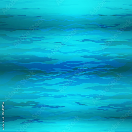 Papiers peints Recifs coralliens Vector Abstract triangle underwater background, abstract texture, blue water