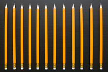 Row Of Identical Pencils