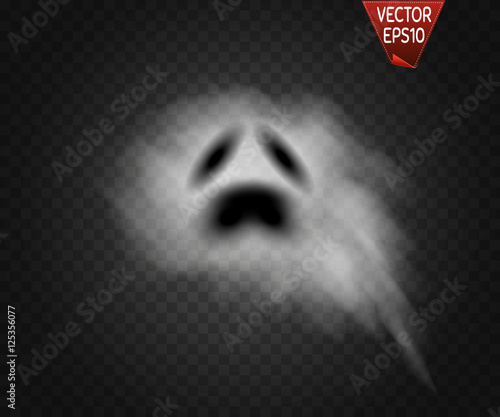 Photo Ghost isolated on transparent background. Vector illustration.