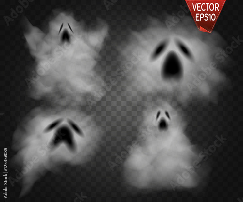 Photo  Ghosts isolated on transparent background