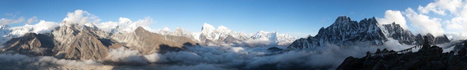 panorama of Mount Everest, ...