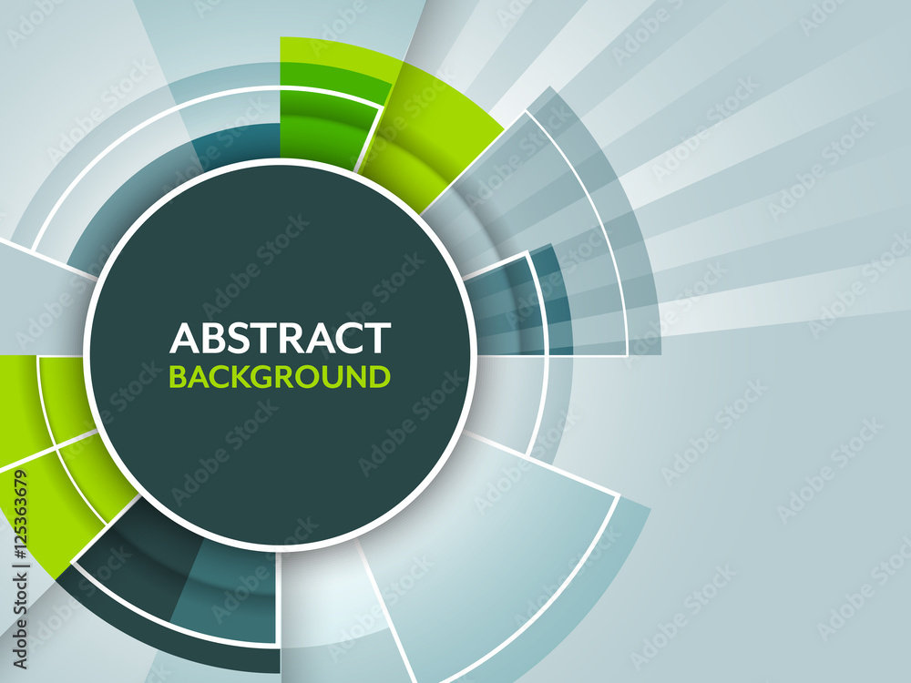 Abstract futuristic vector background with circular pattern.