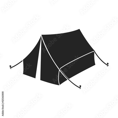 Foto Tent icon in black style isolated on white background
